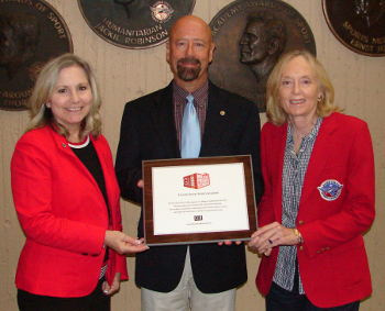 Photographed from left to right: Coordinator of Continuing Education and Military Programs, Ms. Donna Parks; Dean of Student Services, Dr. Craig Bogar; and Associate Dean of Continuing Education, Ms. Betsy Smith.