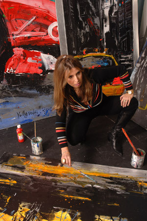 Mina Papatheodorou-Valyraki, the Academy's 2002 Sport Artist of the Year.
