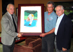 Photographed (from left to right): Dr. Thomas P. Rosandich, Academy President; Robert Zimlich, Academy Curator; and Don Rush
