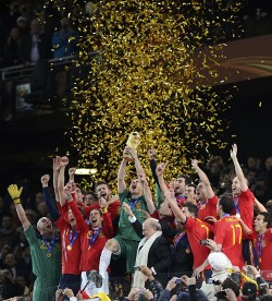 Spanish national team won its first FIFA World Cup in 2010.