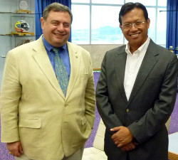 Dr. T.J. Rosandich (left) and Shabery bin Cheek (right)