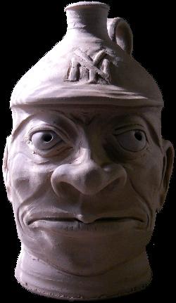 """""""Babe Ruth"""" Face Jug"""