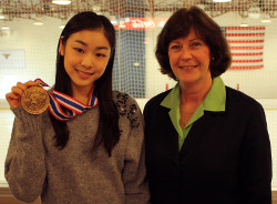 Yuna Kim of South Korea received the United States Sports Academy's 2010 Female Athlete of the Year Award