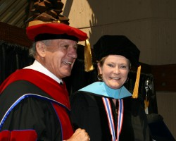 Summitt earned an Honorary Doctorate from the Academy in 2008