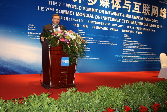 "Academy Vice President and COO Dr. T.J. Rosandich presented, ""Digital Technology and Management in Sports,"" at the 7th World Summit on Internet and Multimedia on Friday, Sept. 23 in Beijing, China."