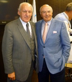 Dr. Thomas P. Rosandich (left) with Monsieur Lambis Nikolaou