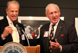 Academy President and CEO Dr. Thomas P. Rosandich (right) Jack Scharr (left)