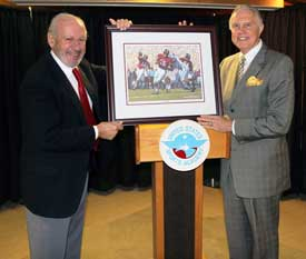 McCollough Presented Daniel Moore Painting