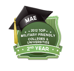 The Academy earned the Military Advanced Education magazine's distinction as a top military friendly university for the second consecutive year.