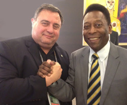 Dr. T.J. Rosandich and Pelé